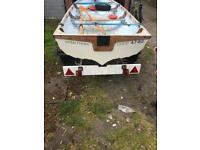 14 foot fishing boat/ trailer/ motor and other bits