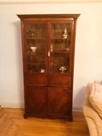 Elegant bookcase / display mahogany unit