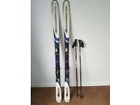 Rossignol Bandit skis plus poles and ski bag
