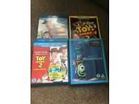 Toy Story 1, 2 and 3 + Monsters Inc Blu Ray