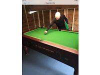 7x4 slate bed pool table