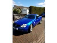 Mercedes slk230k Kompressor blue auto convertible