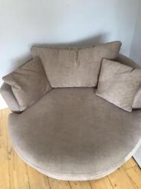 Next stratus corner sofa and swivel chair