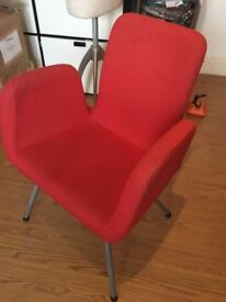 IKEA red chair