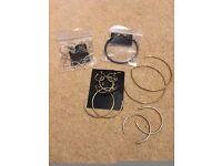 Ladies Girls Bundle of Jewellery Earrings, rings, bracelets, £5 set - Fancy Dress 60s or casual