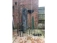 Fishing rods and reels old