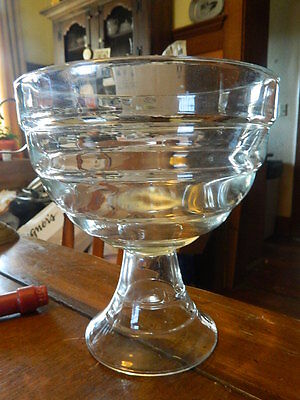 Big Margarita Glass (Big Margarita Trifle Bowl Clear Glass Ribbed Pedestal Dessert Candy Serving)
