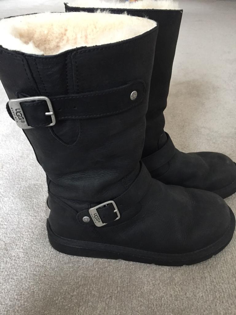 Kensington Ugg Boots (Black) UK size 6.5