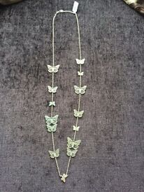 Accessorize butterfly necklace brand new with tag £5