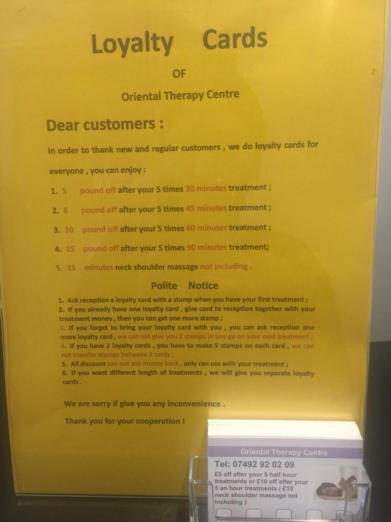 Oriental Therapy Centre Full Body Massage in Harpenden