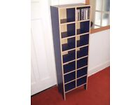 CD storage display unit IKEA blue colour. Holds over 200 cd's