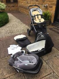 UPPA baby Vista Travel System 2015 and Maxi Cosi Car Seat plus attachments