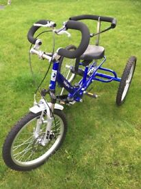 childs theraplay trike and spare wheel