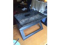 FOLDING CHARCOAL BARBECUE WITH LIGHTER AND FIRELIGHTER CUBES