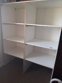 White sturdy storage unit