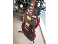 SG copy electric guitar by Vintage