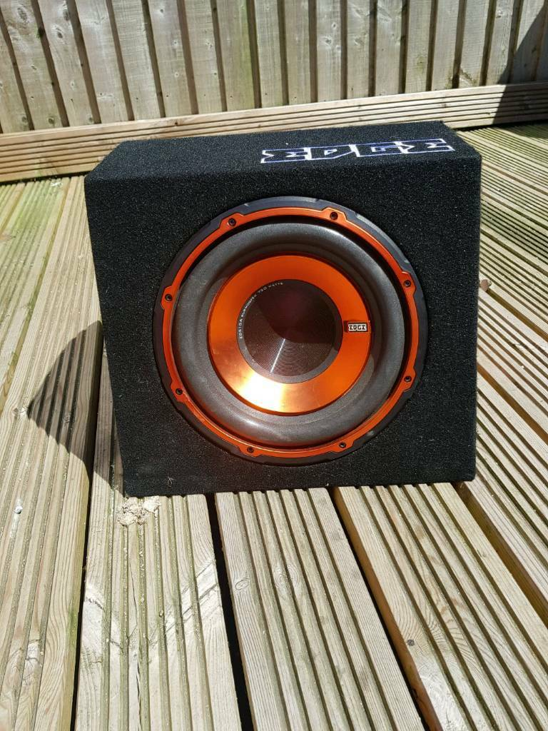 Edge 10 Inch Sub With Built In Amp 750 Watt Like New Full Subwoofer And Wiring Kit