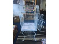 Stylish Bird Cage VGC like new for budgies, parakeets etc comes with toys