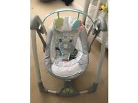 Baby swing seat- almost brand new