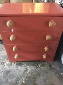 Pink Solid Pine Drawers - CAN DELIVER