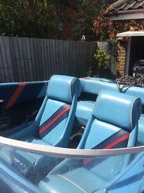 14 speedboat 75hp out board 4 seats fast new Wheels on trailer outboard sell up to 1000