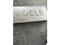 2 x Adele seated tickets for Sunday 2nd july