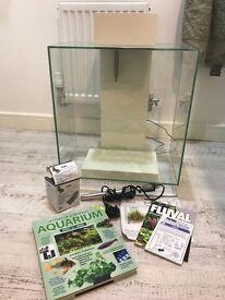 Fluval Edge 46 litre aquarium fish tank white &a accessories
