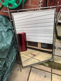 Decorative interior mirror brushed steel effect £60 Ono