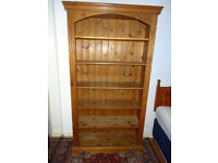 Solid Pine Tall Bookcase