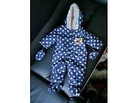 Baby boy snowsuit 6-9 months