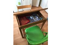 Small folding table+2 folding chairs