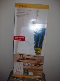 Artist's Easel, table top type, brand new, still in box.