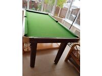 Pool table approx 6ft x 3ft