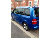 VW TOURAN 2.0TDI DIESEL.. 7 SEATER...FULL SERVICE HISTORY...2 FORMER KEEPER...DRIVERS PERFECT..