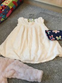 Baby girl clothing bundle size 6-9 months. Dresses, coats and jumpers