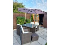Rattan Garden Furniture (Table and Chairs)