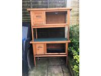 2x guinea pig hutches (or small rabbit)