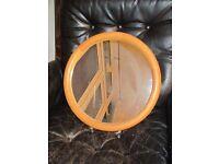 Round Pine Mirror