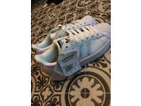 Brand new unworn adidas originals holographic superstars
