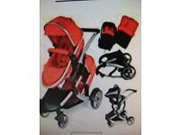 Double Pushchair Stroller( Apron and carrycot )