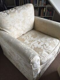Single Armchair with foot stool