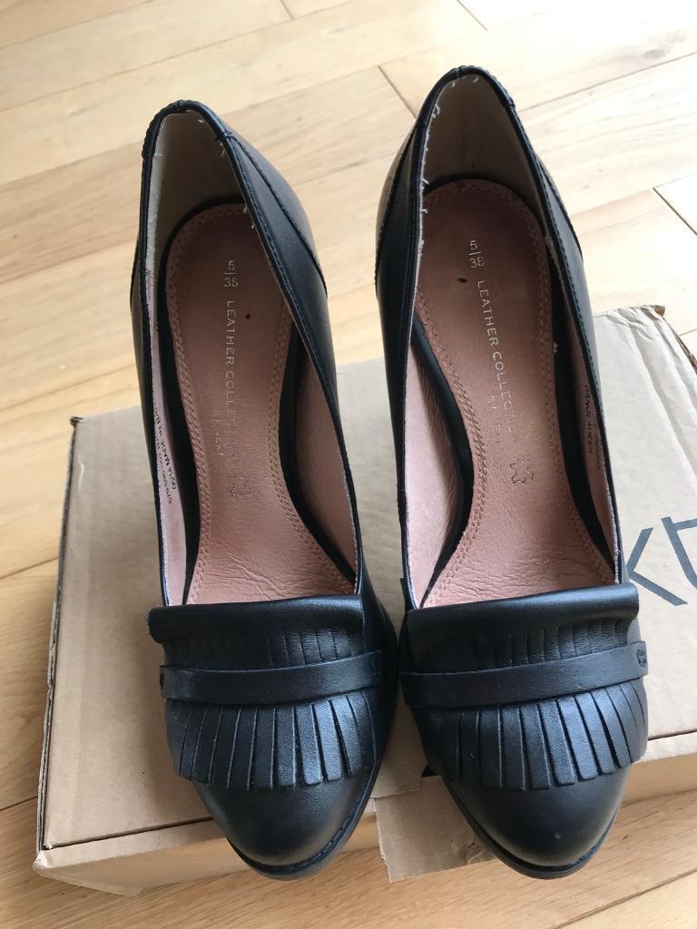 Next leather ladies court shoes size 5