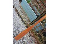 Boat wooden oar 5.5ft x 1