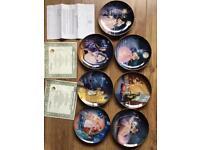 Franklin mint porcelain Cinderella collector limited edition plates x7