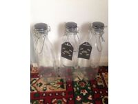 NEW Glass Juice Bottles all 3 for £10!
