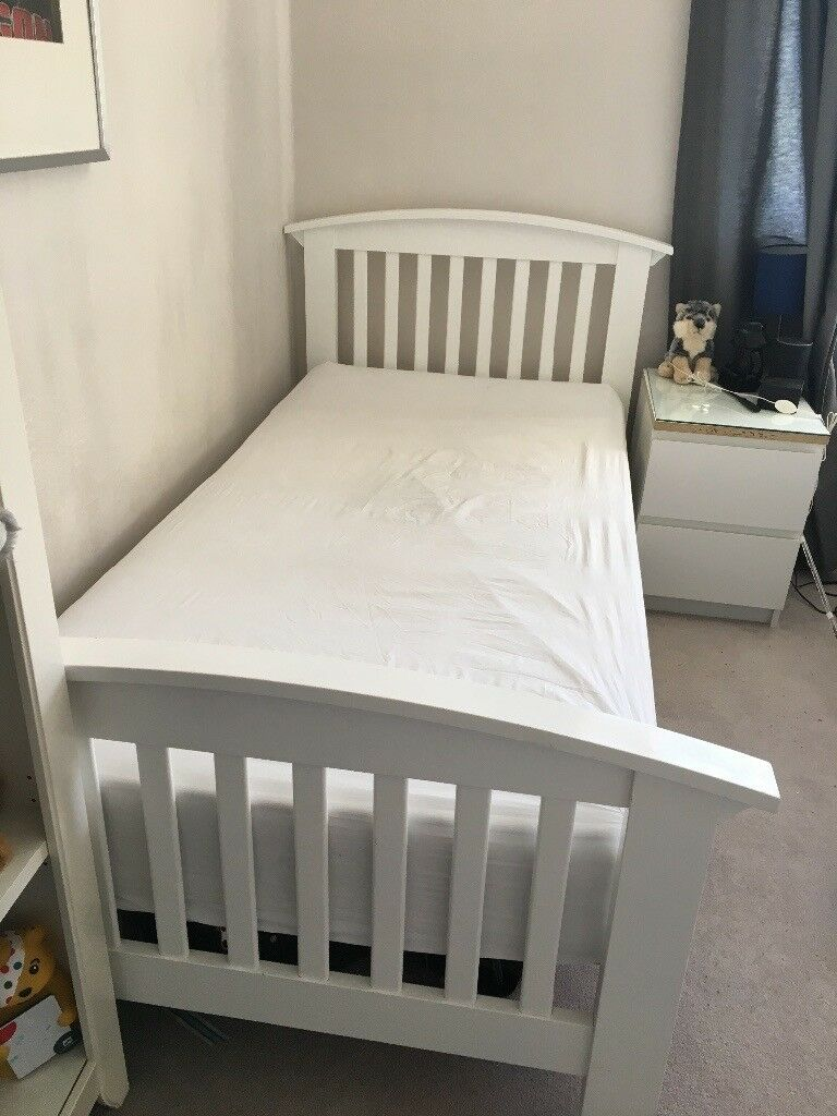 White Wooden Single Bed Frame In Carterton Oxfordshire Gumtree