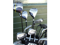 MENS GRAPHITE RIGHT HAND GOLF CLUBS WITH BAG/TROLLEY