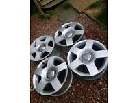 "16"" Audi A4 Alloy Wheels 5x112 PCD with centre caps Without Tyres"