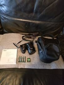 Nikon Coolpix L820. 16mp. Excellent condition with bag, straps, batteries and 16gb sd memory card