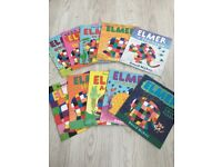 Elmer 10 Book Collection Set with Holding Bag
